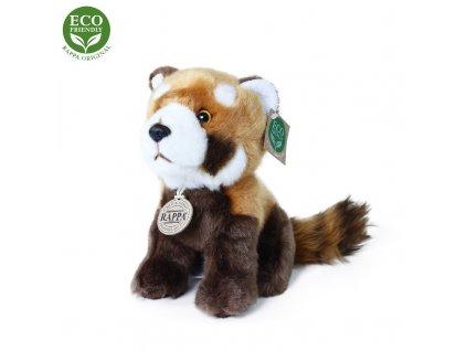 Plyšová panda červená sedící 18 cm ECO-FRIENDLY