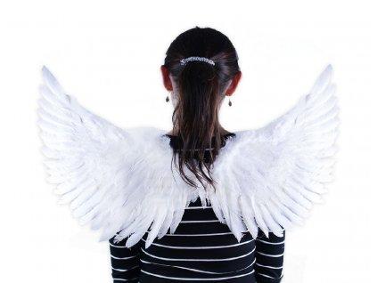 Andělská křídla bílá se třpytkami