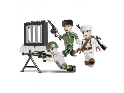 Figurky s doplňky Sovětská armáda zimní 3 figurky 26 k