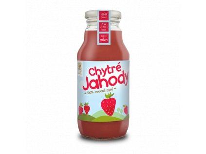 Chytré jahody - 100% ovocné pyré 350g
