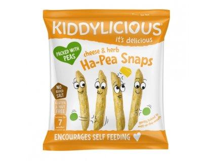 Kiddylicious hráškové lusky se sýrem a bylinkami (15g)