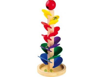 Dřevěné hračky kuličková dráha se zvukem