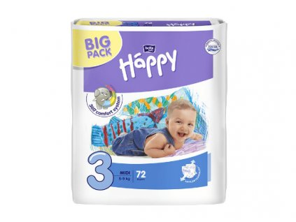 Bella Baby Happy Midi Big Pack 72 ks
