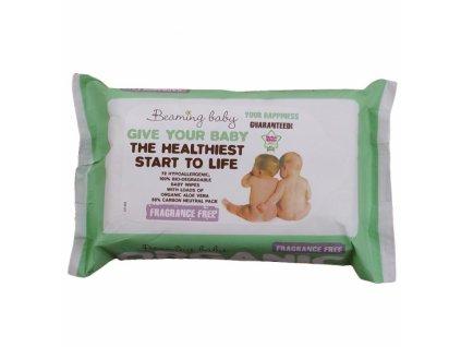 Beaming baby organické vlhčené ubrousky bez vůně 72 ks