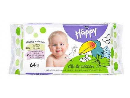 Bella Happy čistící ubrousky hedvábí a bavlna 64 ks