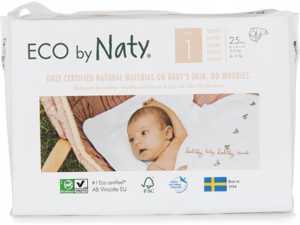Naty Newborn 2-5 kg 25 ks