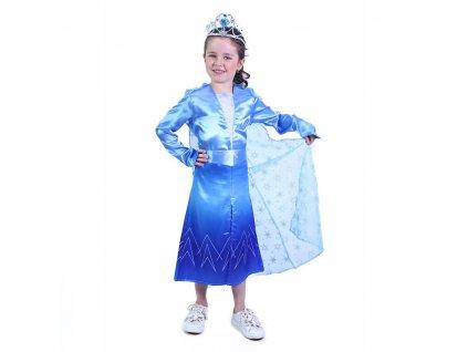 Dětský kostým modrá zimní princezna (M)