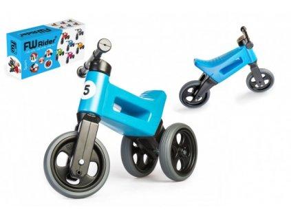 82832 odrazedlo funny wheels rider sport modre 2v1 vyska sedla 28 30cm nosnost 25kg 18m v krabici
