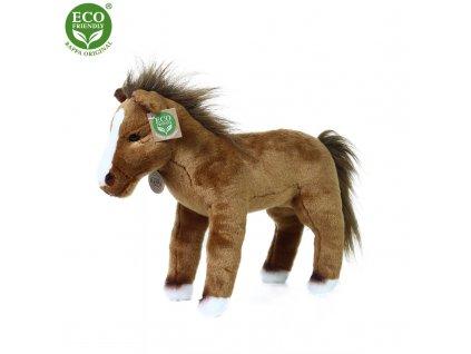 Plyšový kůň stojící 32 cm ECO-FRIENDLY