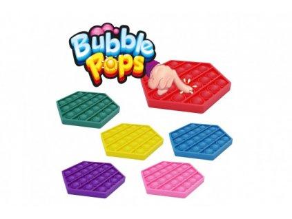 Bubble pops / POP IT silikon antistresová společenská hra 6 barev