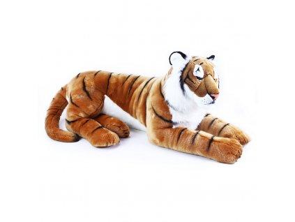 Velký plyšový tygr ležící 92 cm