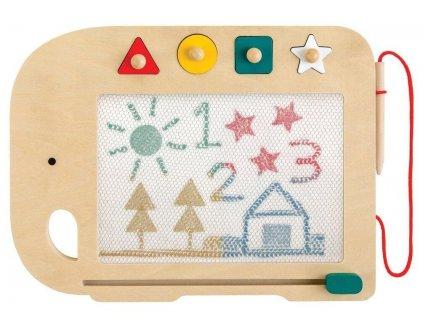 Petit Collage Dřevěná magnetická kreslící tabulka