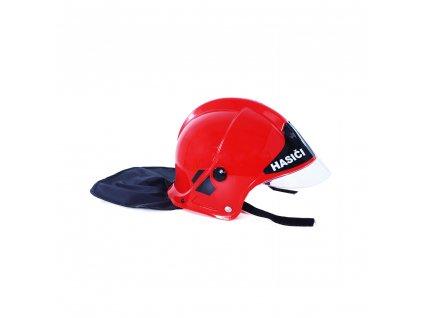 Dětská červená helma/přilba hasič CZ text
