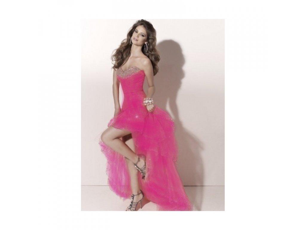 paris luxusni ruzove plesove saty na maturitni ples s m