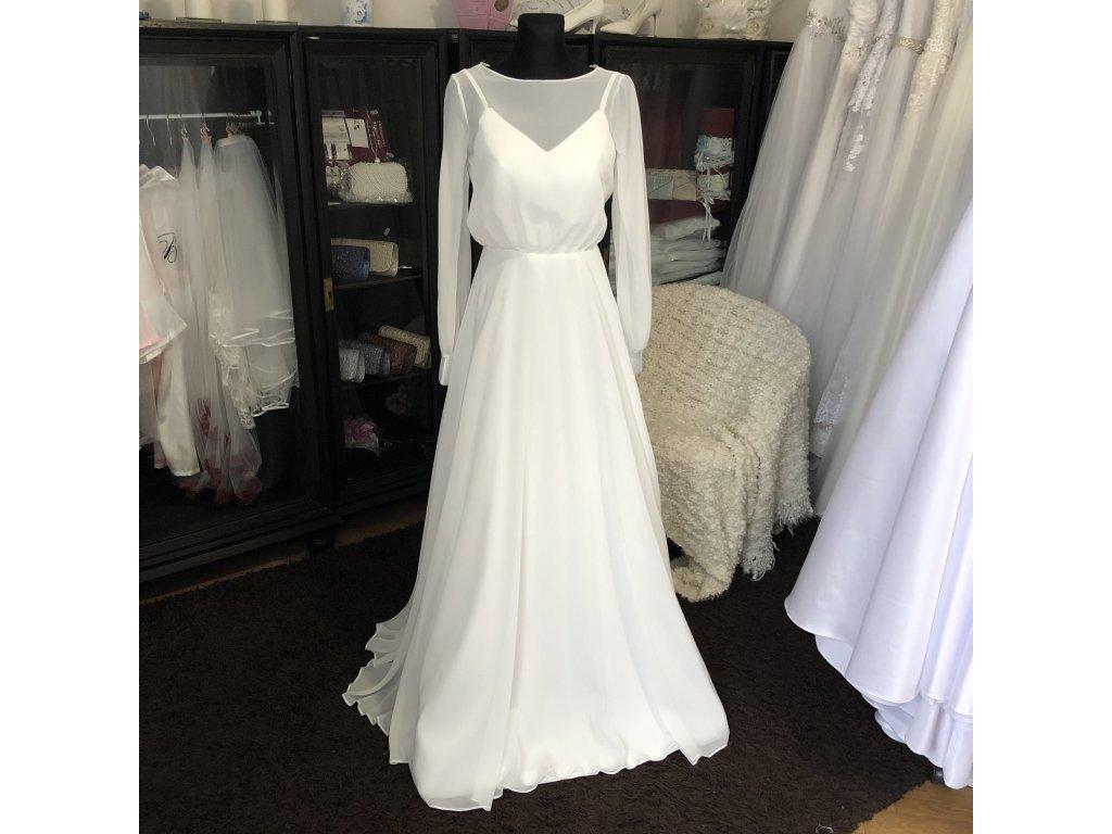 boho svatební šaty s dlouhými rukávy Eliza