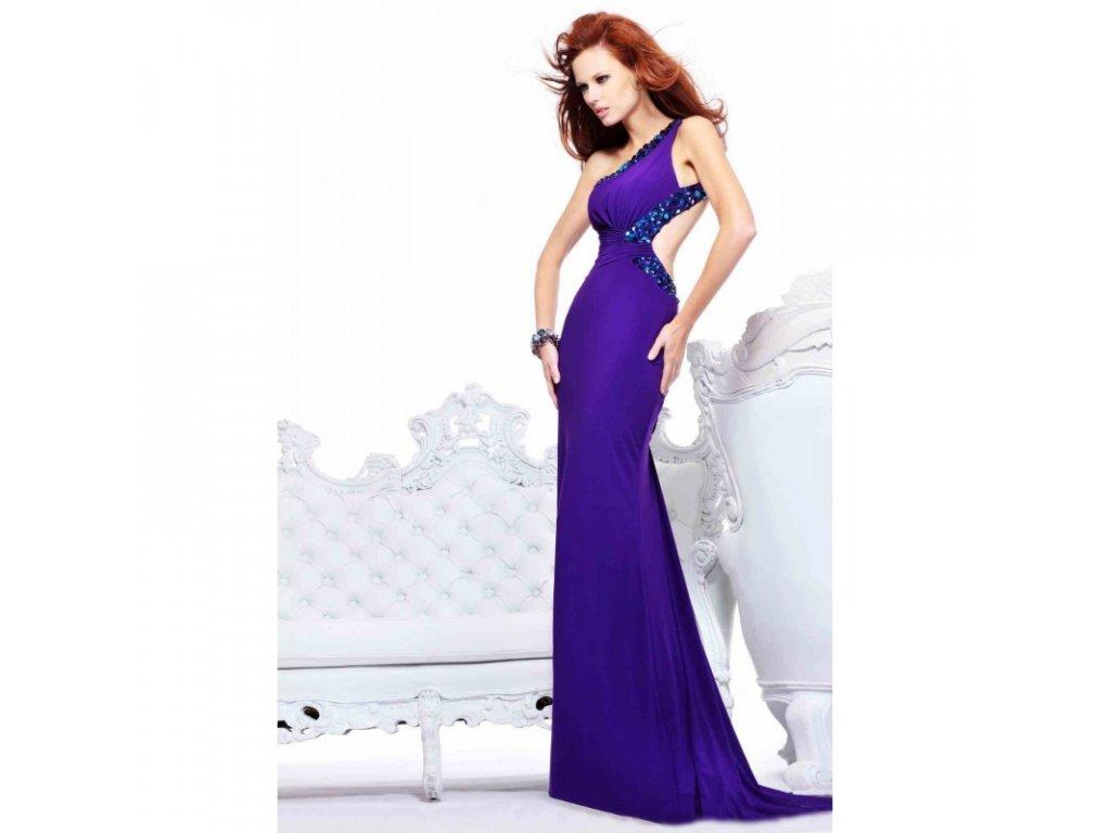 luxusni fialove plesove sexy saty na maturitni ples roxy xxs