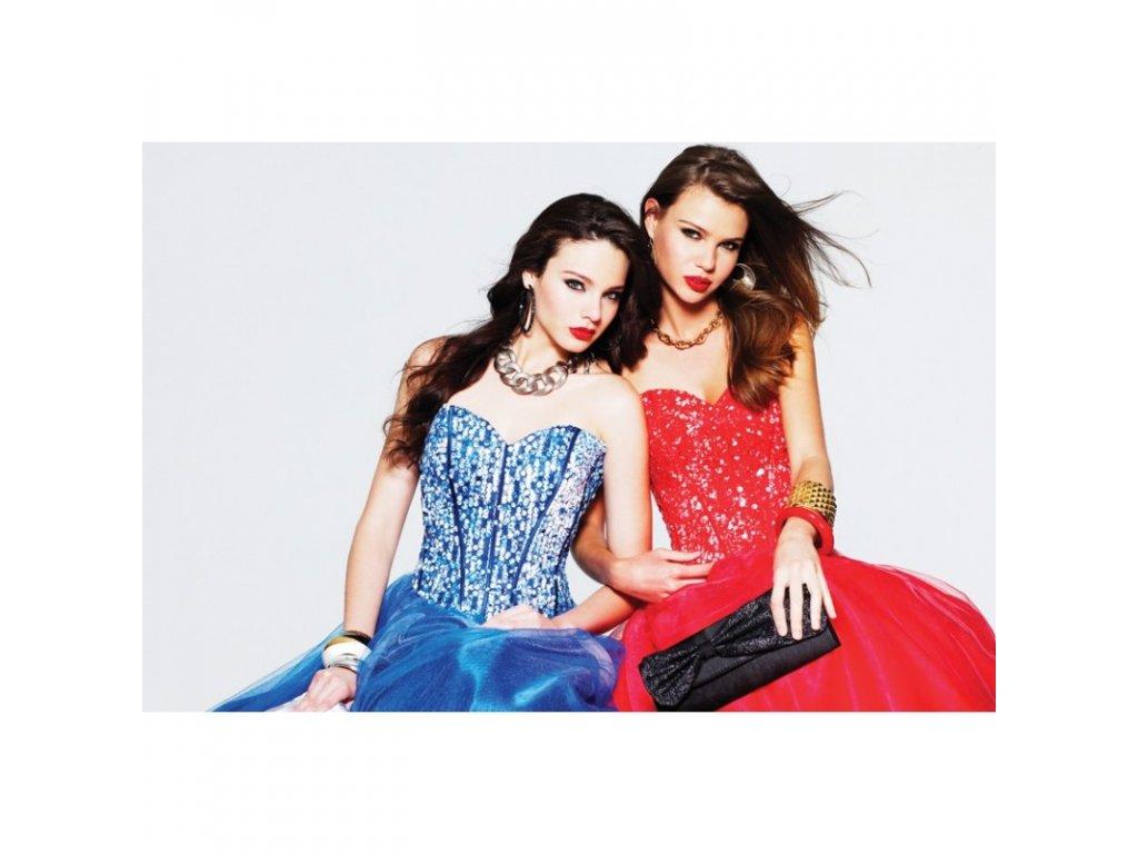 tmave modre plesove saty na maturitni ples faviana originalni model 6915 velikost xl xxl