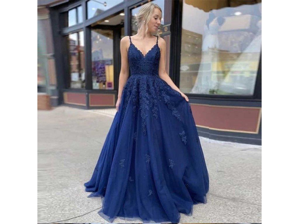 BEPEITHY vestido de noche de encaje para mujer largos lujosos l nea A cuello de pico.jpg q50