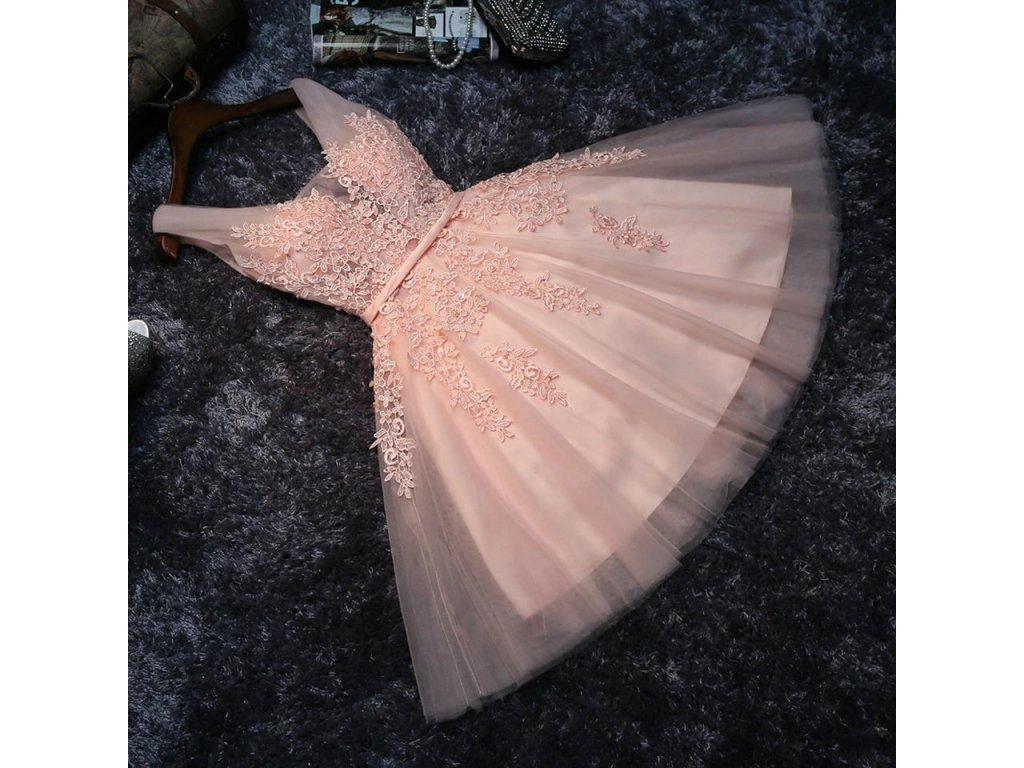 Elegant Pearl Pink Prom Dresses 2020 Sexy Prom Dress Short V Neck Appliques Beading Lace Up.jpg Q90.jpg .webp