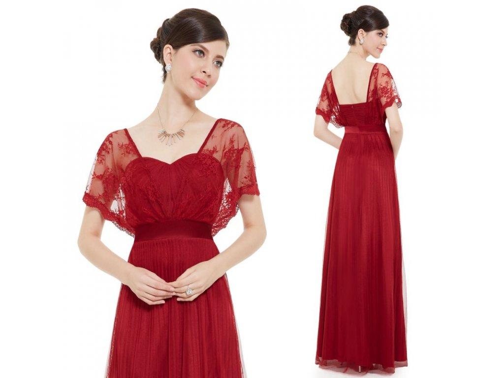 dlouhe cervene spolecenske saty s rukavky pro matku nevesty alyson xl
