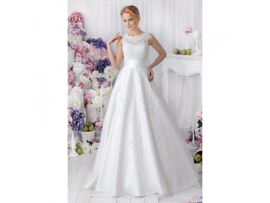 princeznovske svatebni saty s krajkovymi aplikacemi lucia s odepinaci sukne