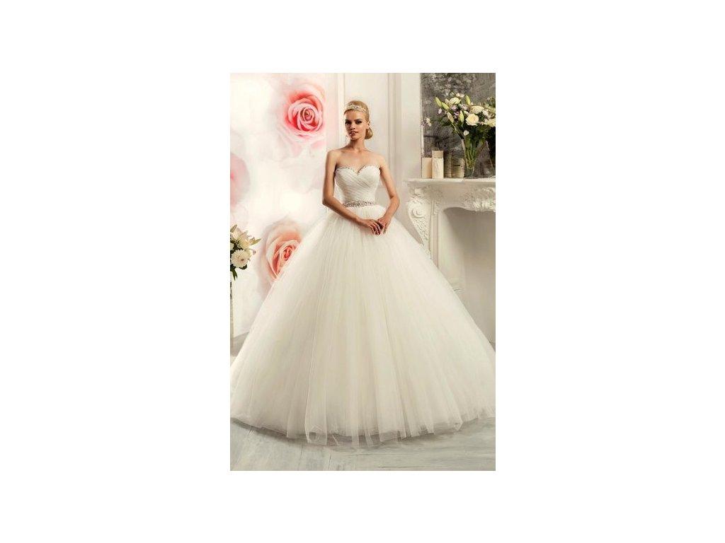 princeznovské tylové bílé svatební šaty s bohatou sukní Alyce