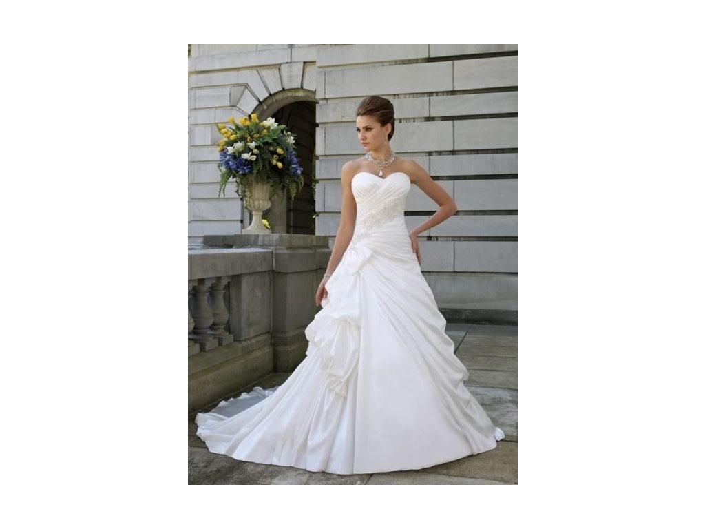 krémové svatební šaty Tina se sníženým pasem
