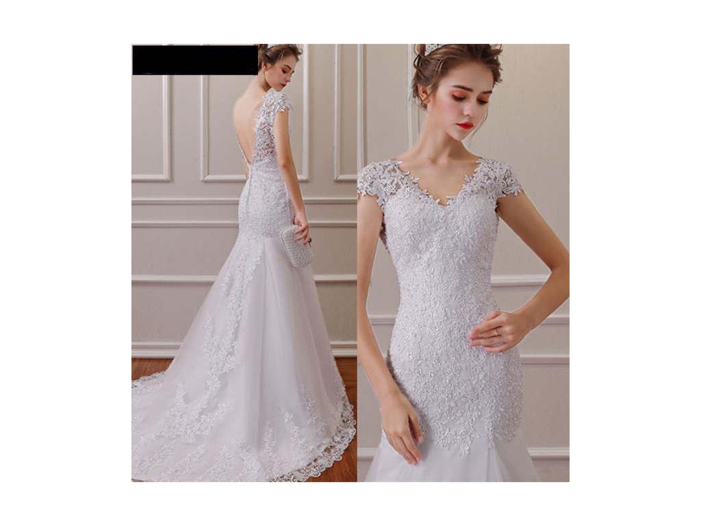 bílé upnuté svatební šaty Silva