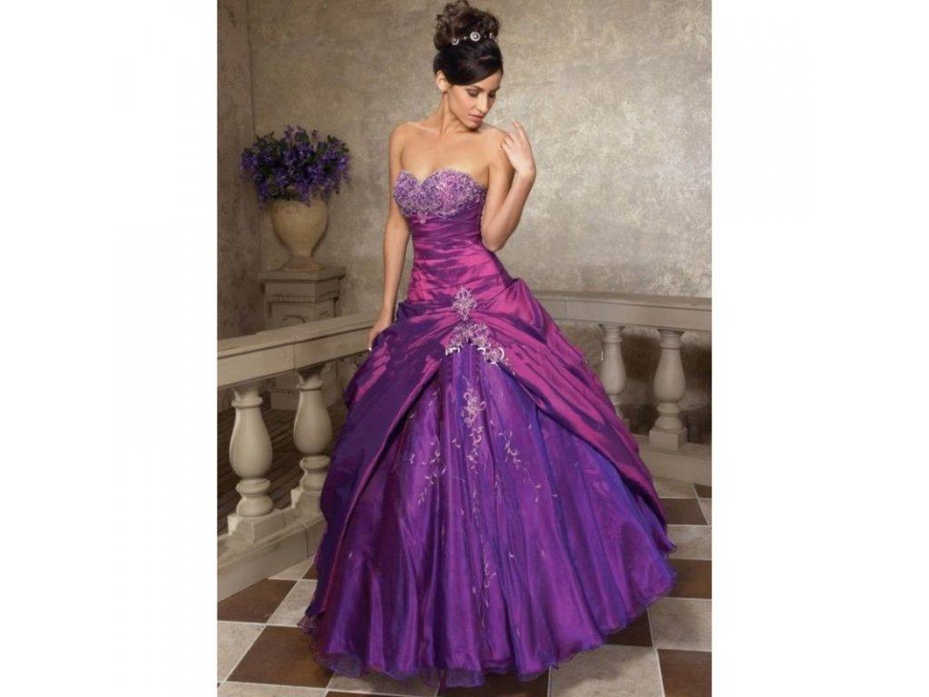 fialove spolecenske a plesove saty violetta skladem