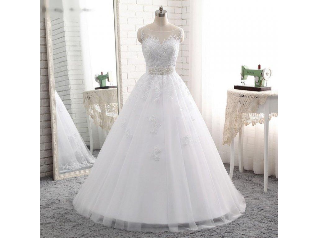 luxusni bile princeznovske svatebni saty anna marie s m 2