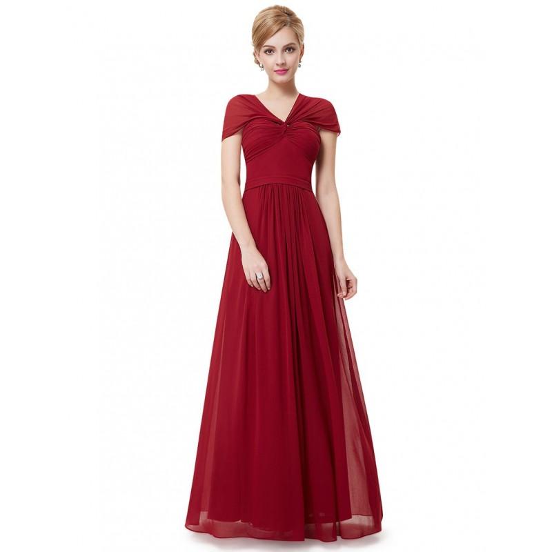 červené dlouhé společenské šaty na ramínka Katy Barva: Vínová, Velikost: S