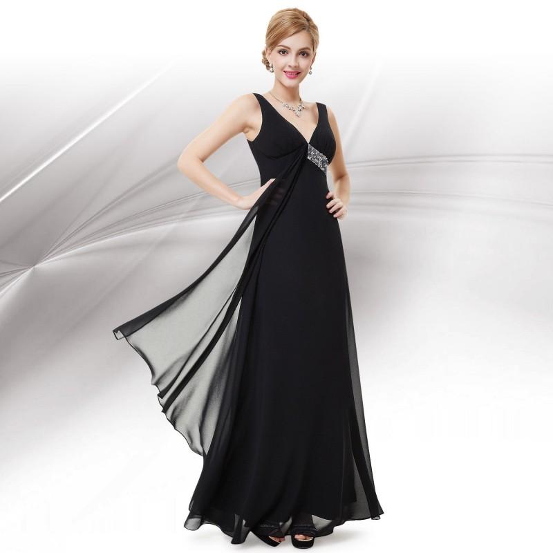 dlouhé černé společenské šaty na ramínka Stella Barva: Černá, Velikost: L