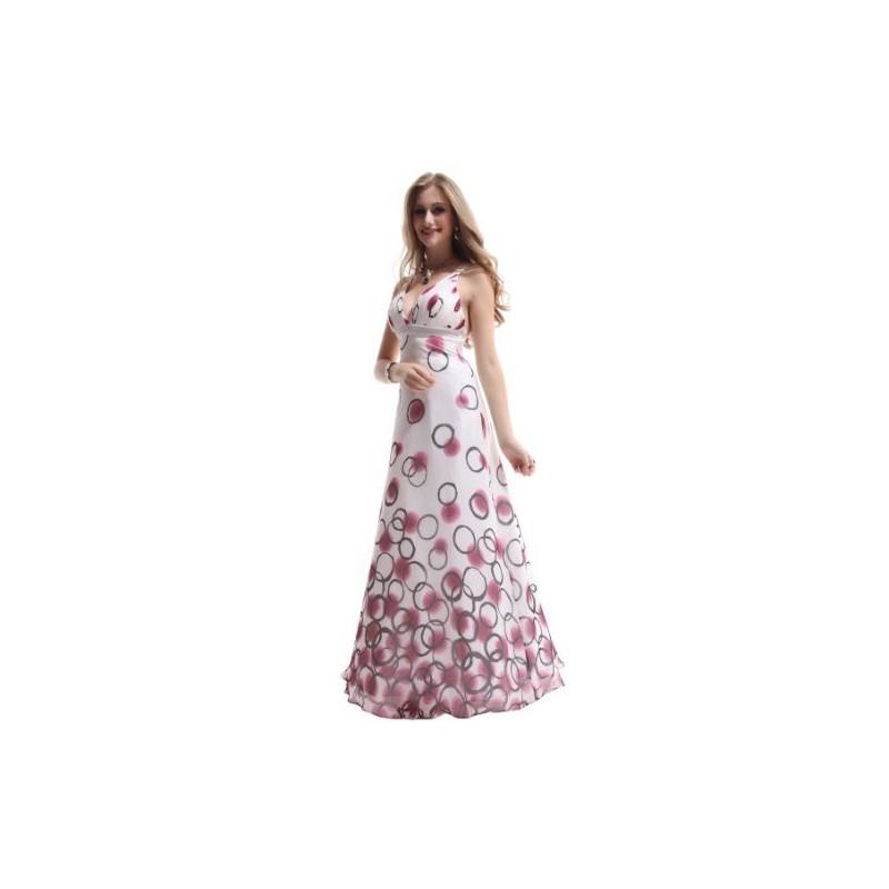 dlouhé bílé puntíkaté společenské šaty Zinoe Barva: Bílá, Velikost: M
