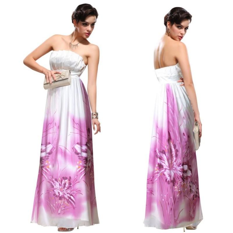 malované luxusní bílé svatební společenské šaty Barva: Bílá, Velikost: M