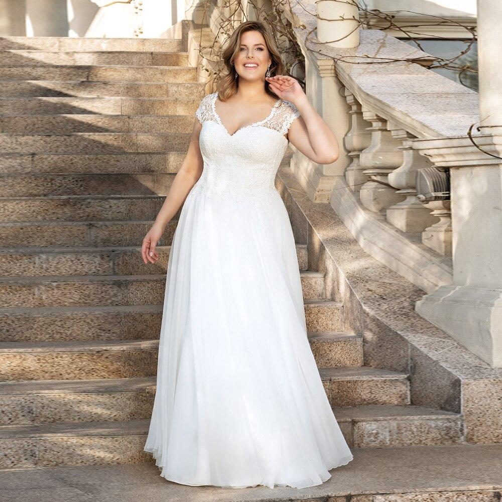antické bílé svatební šaty na ramínka Lucy Barva: Bílá, Velikost: XL-XXL