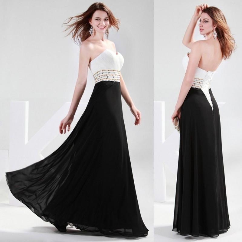 černo-bílé antické plesové společenské šaty Evita Barva: Bílá, Velikost: XL-XXL