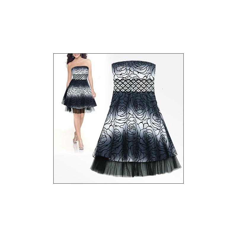 krátké černo-bílé společenské šaty Barva: Černá, Velikost: M