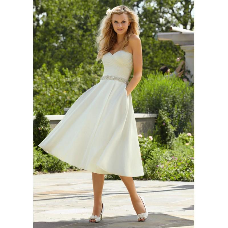 krátké bílé svatební šaty Miranda Barva: Bílá, Velikost: S-M