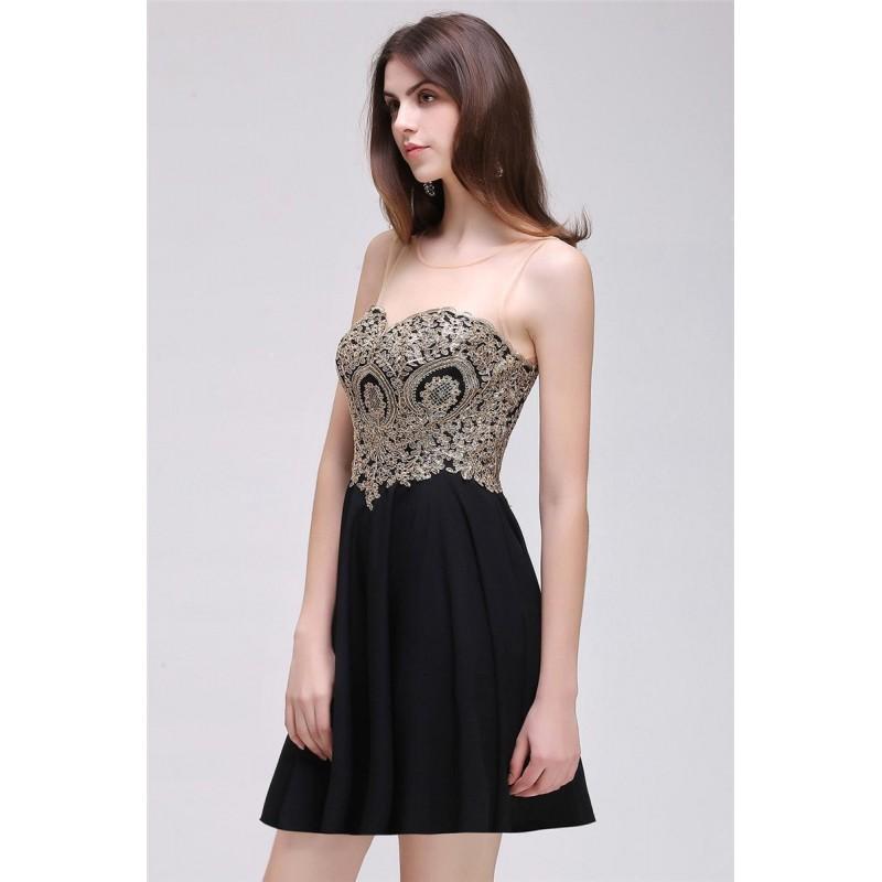 černé krátké společenské šaty do tanečních Valerie Barva: Černá, Velikost: M