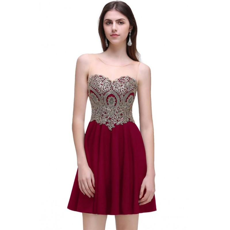 vínové krátké společenské šaty do tanečních Valerie Barva: Vínová, Velikost: XS