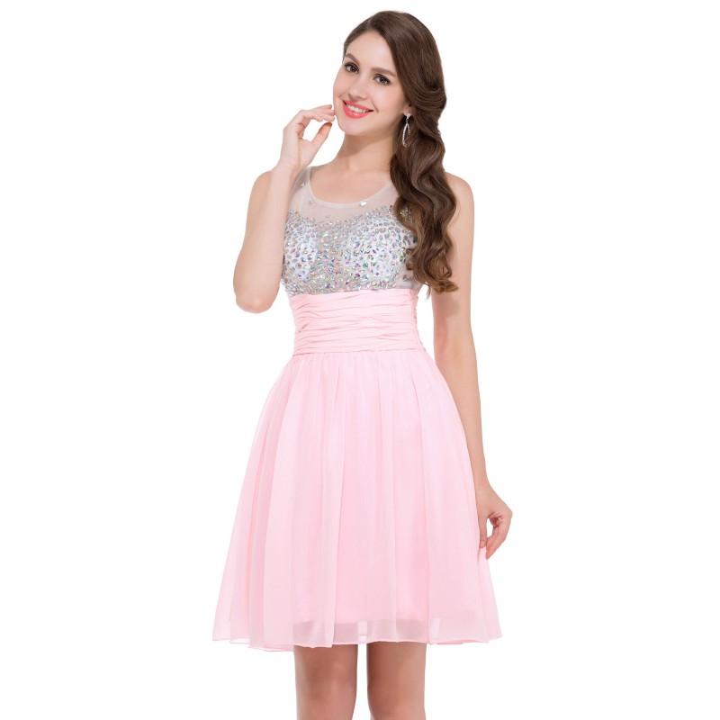 krátké růžové společenské šaty do tanečních Tina Barva: Růžová, Velikost: XS