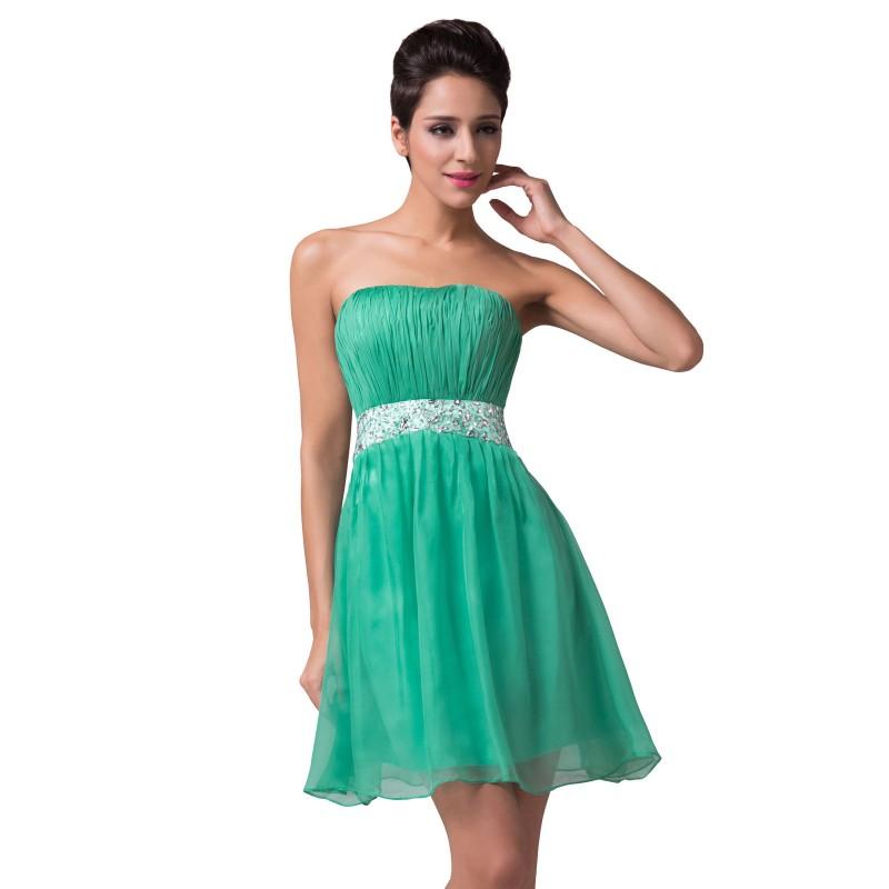 krátké zelené společenské šaty do tanečních Barva: Zelená, Velikost: XS-S