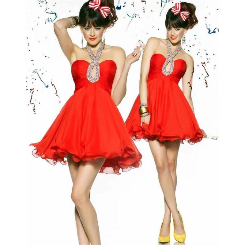 Bobby červené krátké společenské šaty do tanečních Barva: Červená, Velikost: M