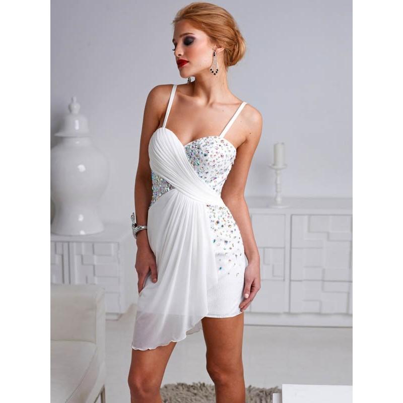 krátké bílé společenské nebo svatební šaty Barva: Bílá, Velikost: S