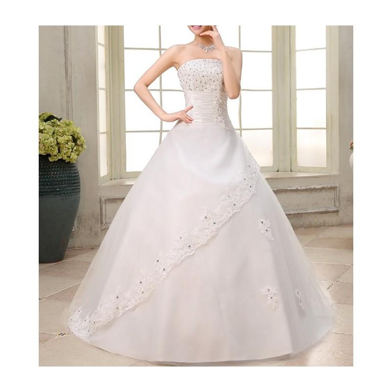 luxusní svatební šaty krémové Donna Barva: Krémová, Velikost: L