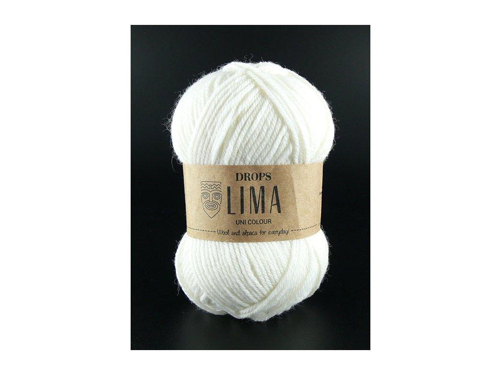 Příze DROPS Lima uni colour - 1101 bílá