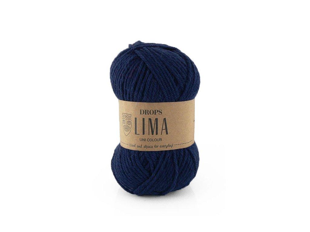 Příze DROPS Lima uni colour - 9016 námořnická modrá