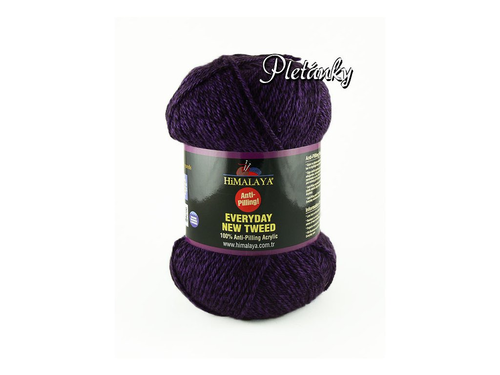 Příze Everyday New Tweed 75115 - fialová