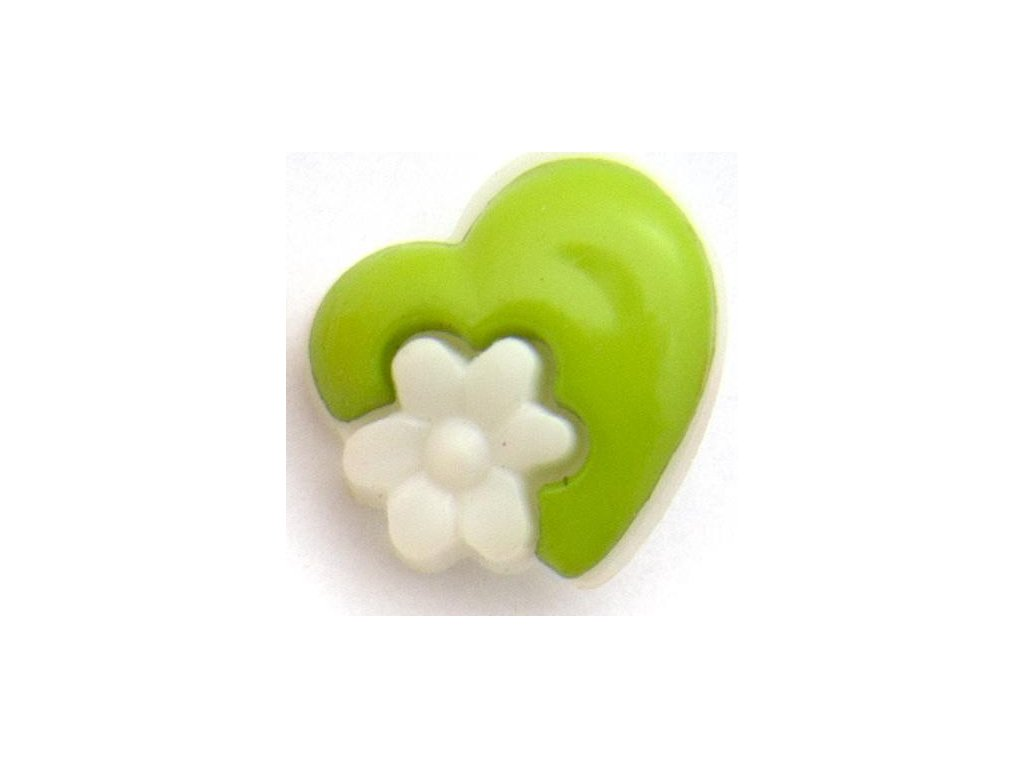 srdíčko s květinkou sytá zelená