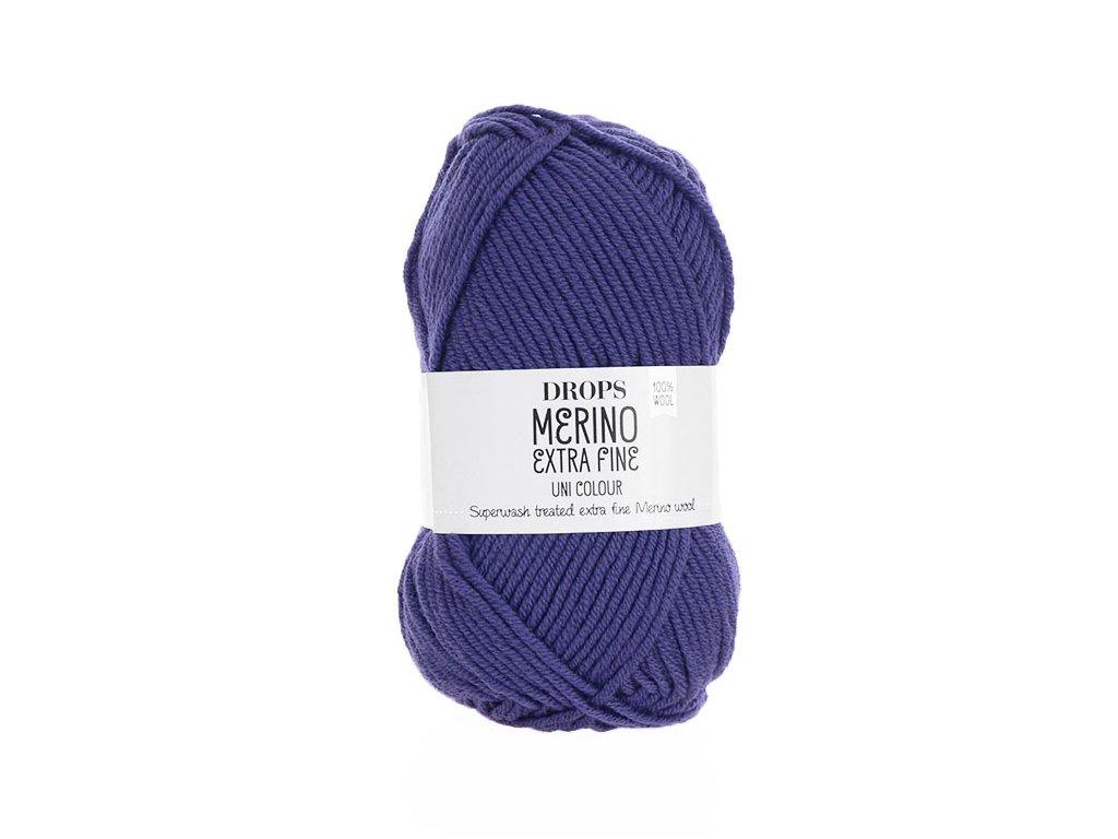 Příze DROPS Merino Extra Fine uni color 21 - fialová